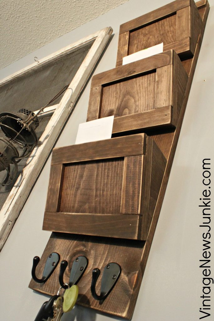 DIY Mail Organizer Wood  5 More Ways to Organize Your Mail