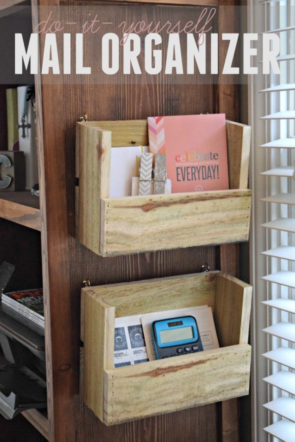 DIY Mail Organizer Wood  Pallet Projects How to Make 11 Unique DIY Projects
