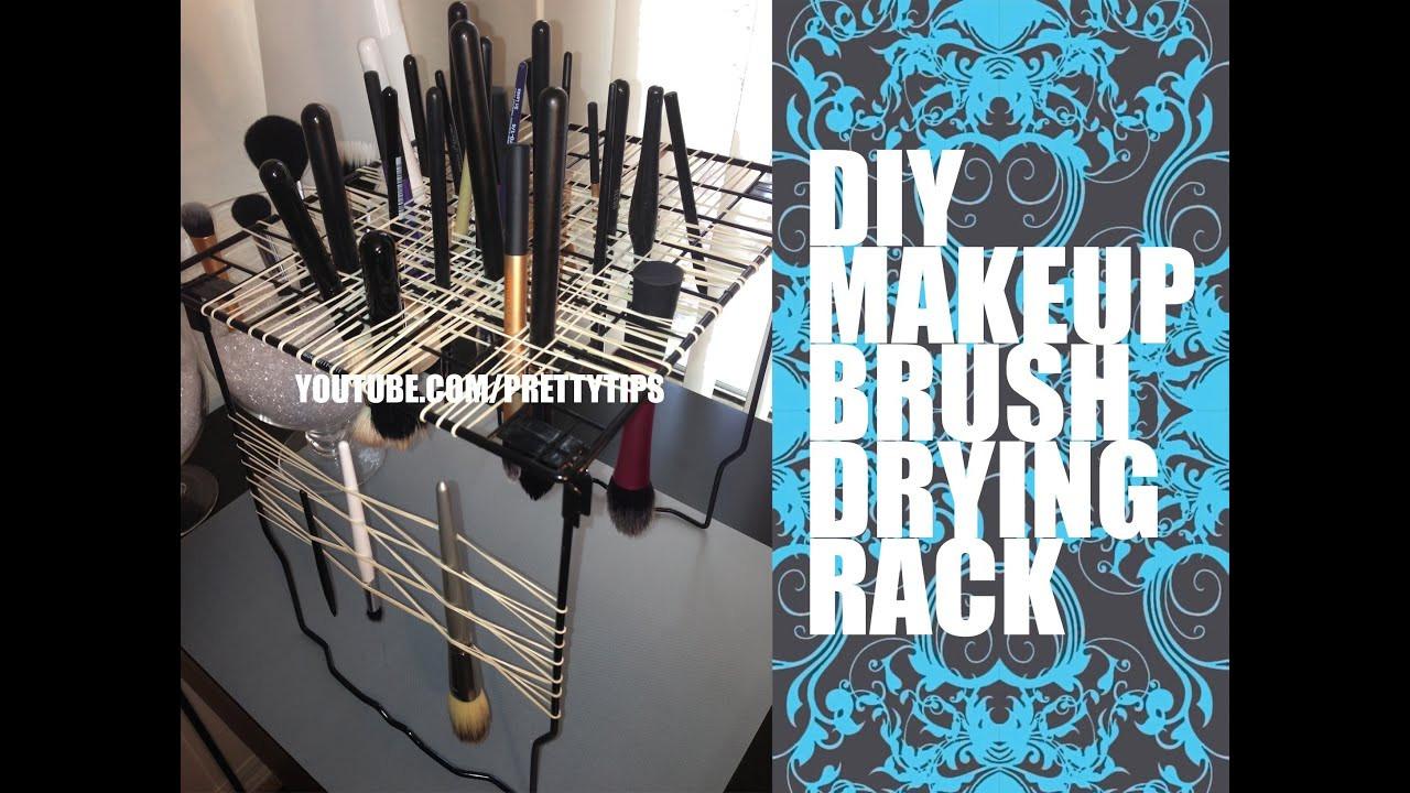 DIY Makeup Brush Drying Rack  Makeup Brush Drying Rack Easy DIY