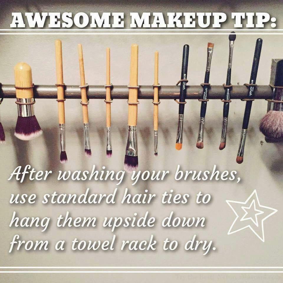 DIY Makeup Brush Drying Rack  TIP Tuesday DIY Makeup Brush Drying Rack