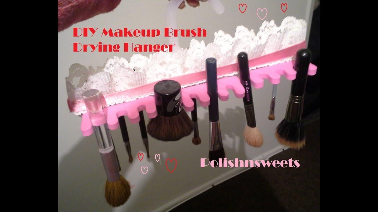 DIY Makeup Brush Drying Rack  DIY Makeup Brush Drying Hanger