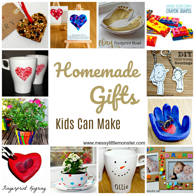 DIY Mother'S Day Gifts From Toddlers  Homemade DIY Gifts Kids Can Make Messy Little Monster