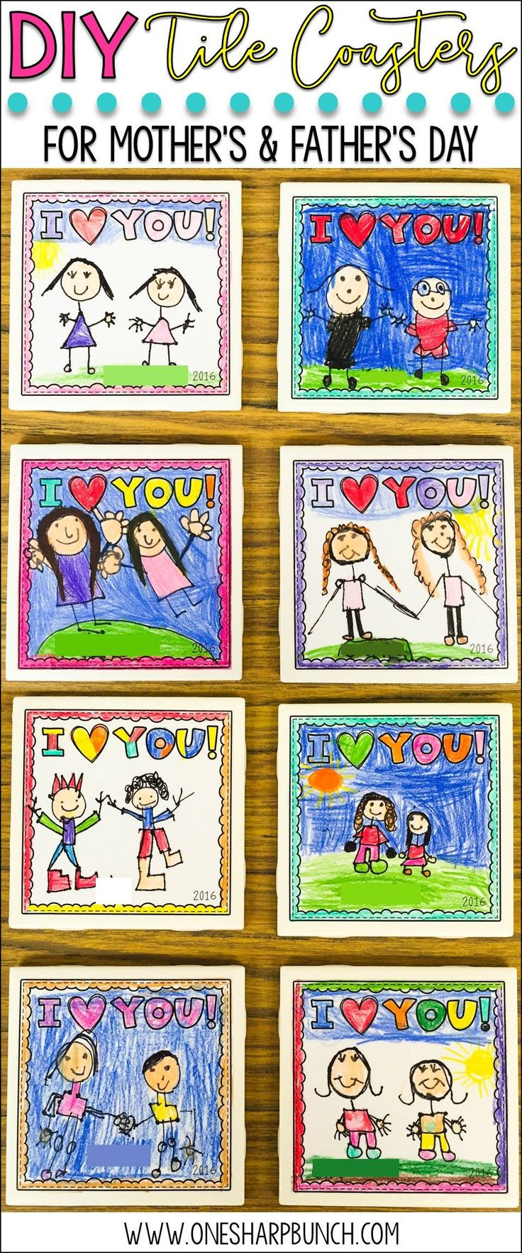 DIY Mother'S Day Gifts From Toddlers  25 best ideas about Tile Coasters on Pinterest