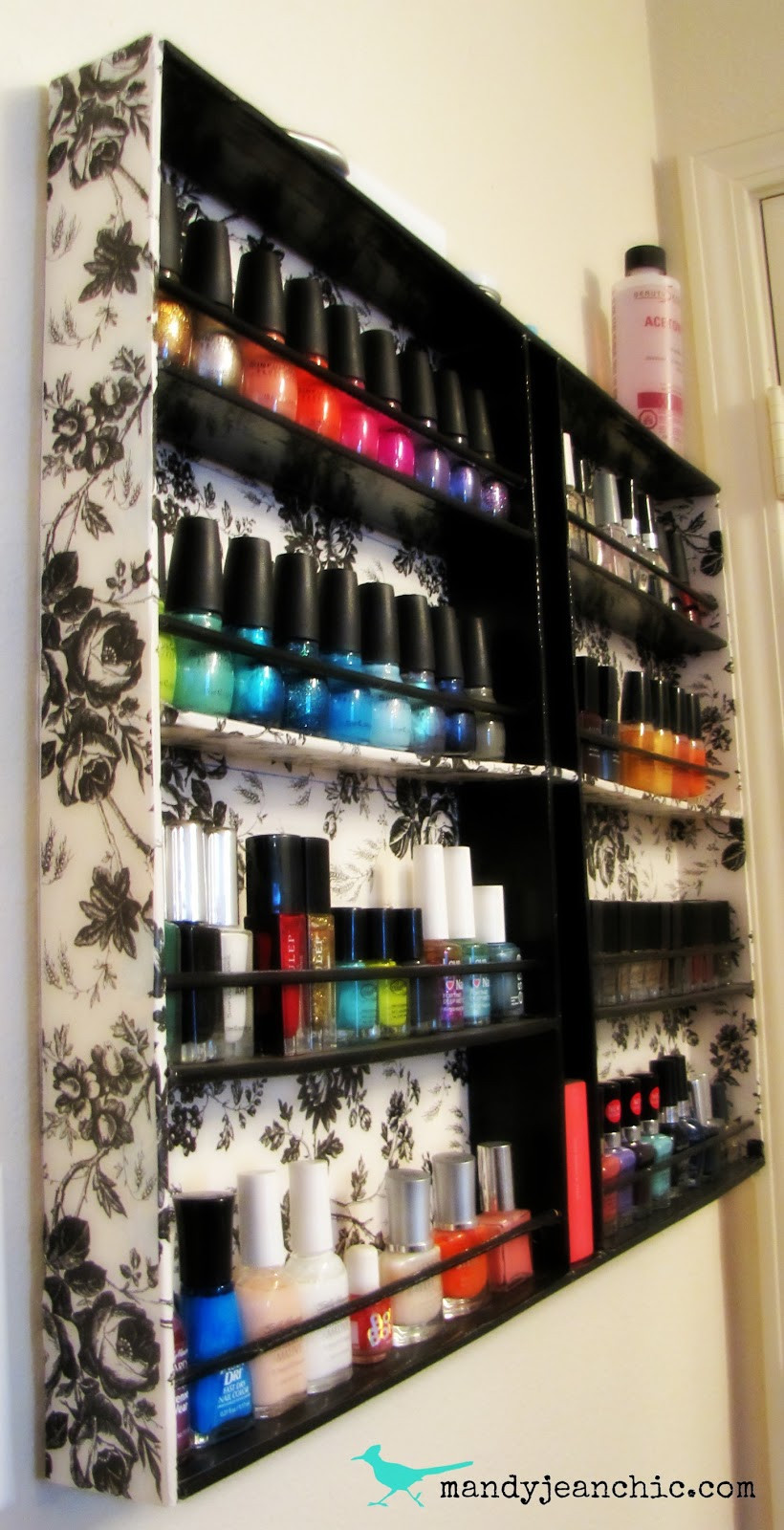 DIY Nail Polish Rack  guest post Archives So You Think You re Crafty