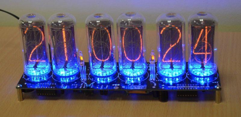 DIY Nixie Tube Clock Kit  IN 18 Nixie Tube Clock Kit No Tubes [LTC18] £44 95