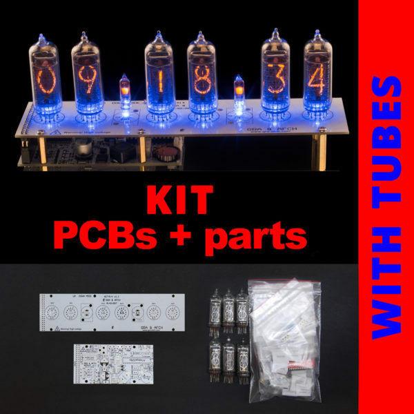 DIY Nixie Tube Clock Kit  Nixie Tubes Clock IN 14 DIY KIT Musical USB RGB PCBs ALL