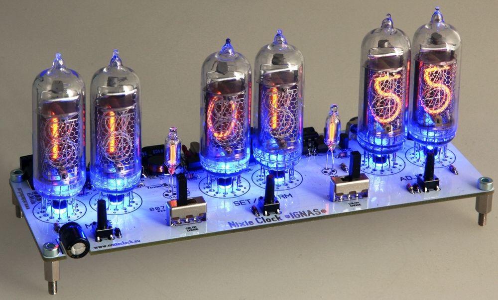 DIY Nixie Tube Clock Kit  Nixie Clock IN 14 Digit Tubes Tube Clock KIT with power