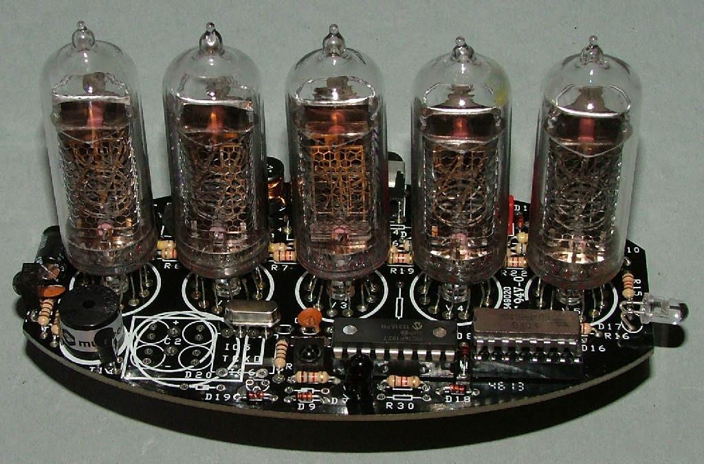 DIY Nixie Tube Clock Kit  5 tube Nixie Clock V1 DIY Kit with paxolin top