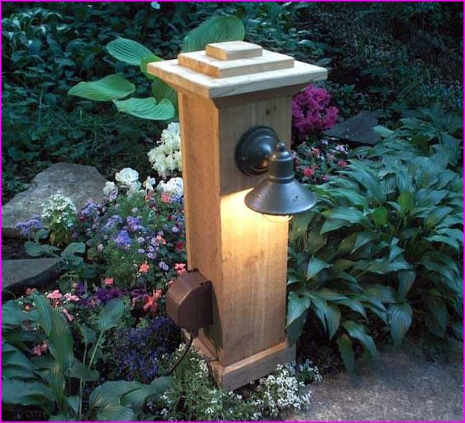 DIY Outdoor Lighting Without Electricity  Diy Outdoor Lamp Post Outdoor Decor & Craft