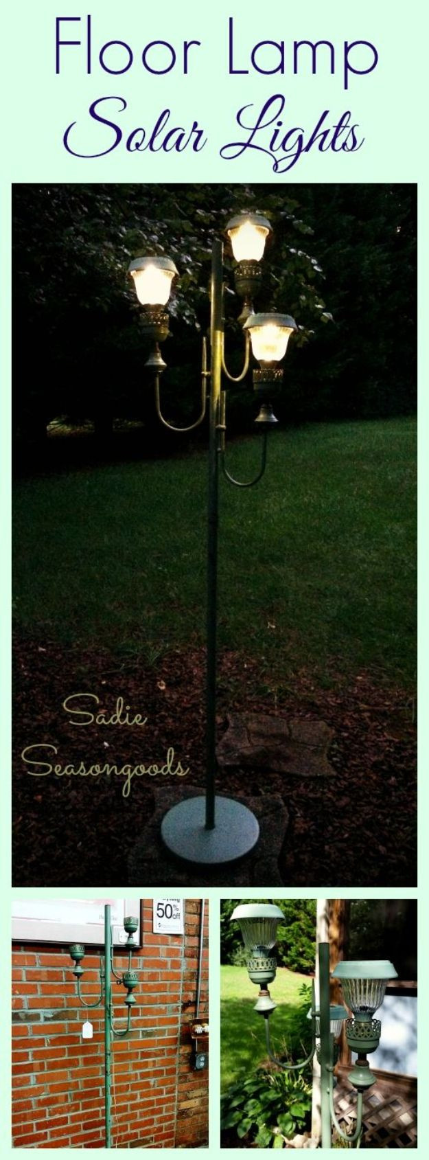 DIY Outdoor Lighting Without Electricity  25 best ideas about Solar Light Crafts on Pinterest