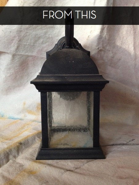 DIY Outdoor Lighting Without Electricity  How to Turn an Outdoor Light Fixture into an Indoor