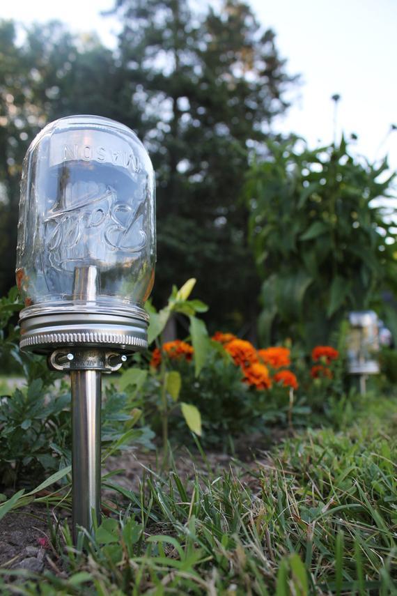 DIY Outdoor Lighting Without Electricity  Solar Powered Mason Jar Lights Eco Friendly Mason Jar