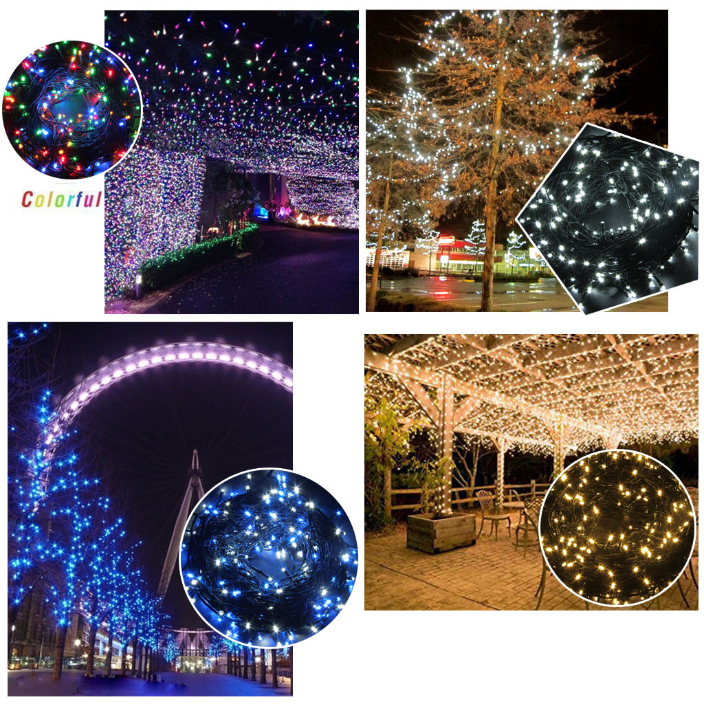 DIY Outdoor Lighting Without Electricity  Xmas Tree String Light Indoor Outdoor Electric Lights DIY