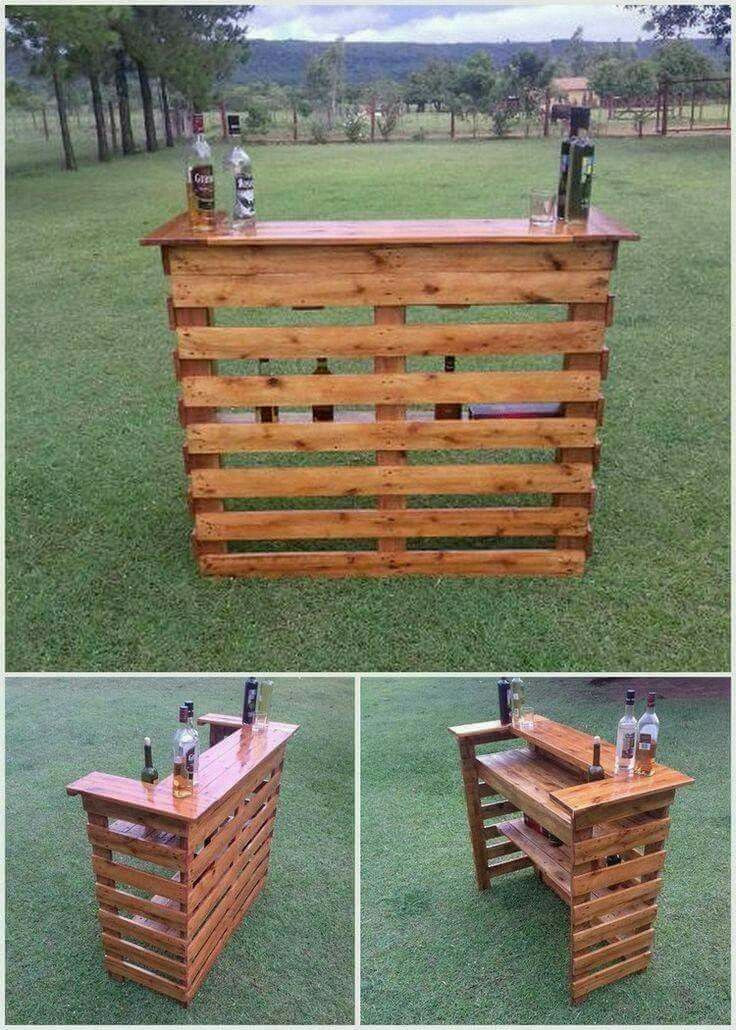 DIY Pallet Bar Plans  Best 25 Outside bars ideas on Pinterest