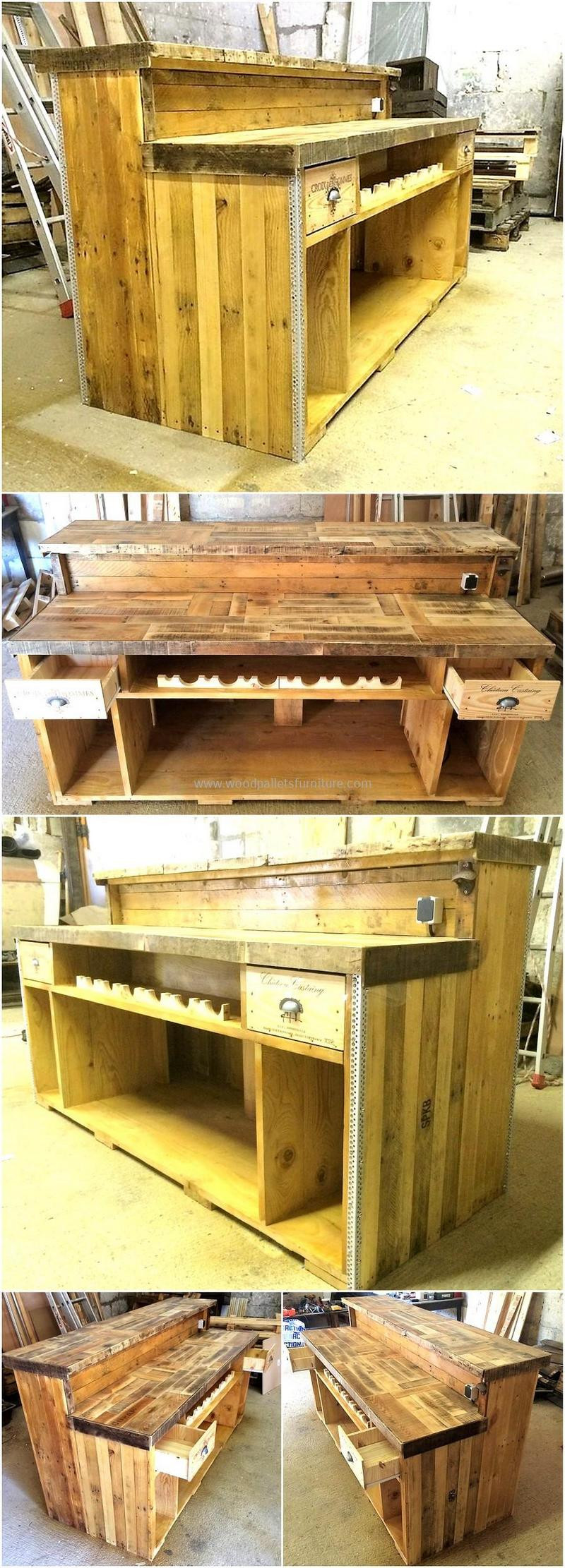 DIY Pallet Bar Plans  200 DIY Ideas for Wood Pallet Bars