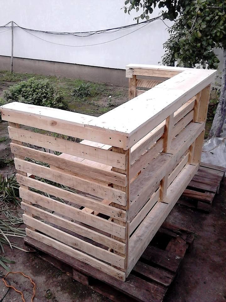 DIY Pallet Bar Plans  Best 25 Pallet counter ideas on Pinterest