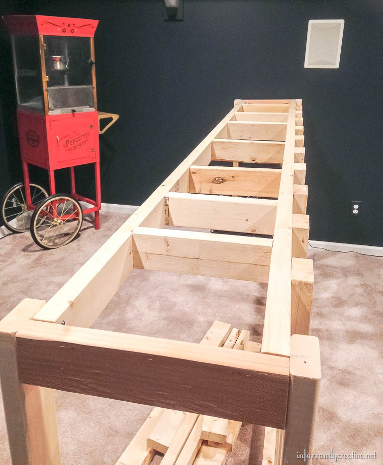 DIY Pallet Bar Plans  Man Cave Wood Pallet Bar Free DIY Plans Infarrantly