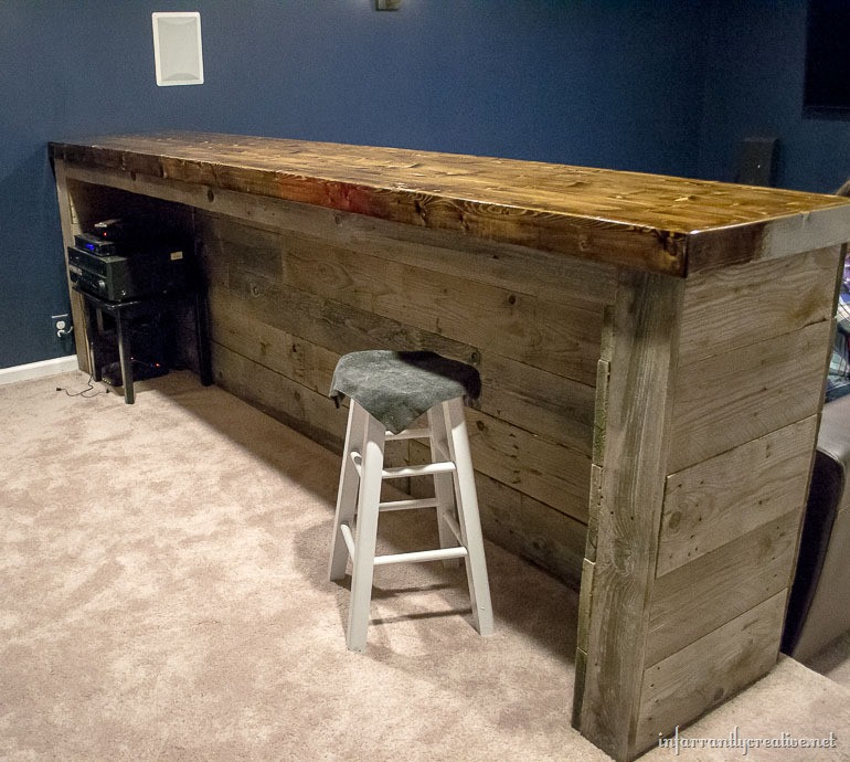DIY Pallet Bar Plans  Man Cave Wood Pallet Bar Free DIY Plans