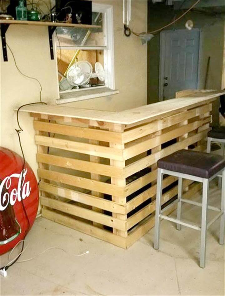 DIY Pallet Bar Plans  DIY Pallet Bar