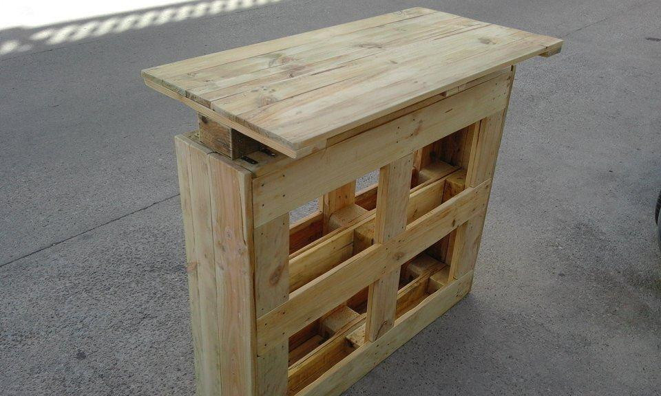 DIY Pallet Bar Plans  Recycled Pallets Bar Table