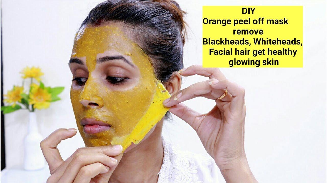 DIY Peel Mask  DIY Orange Peel f Mask Remove Blackheads Whiteheads