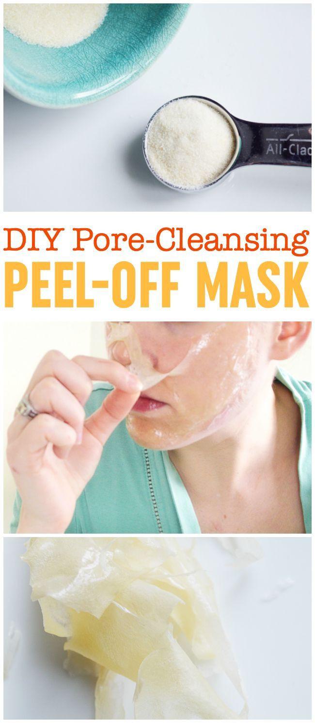 DIY Peel Mask  DIY Peel f Mask Pore Cleansing Blackhead Busting Face