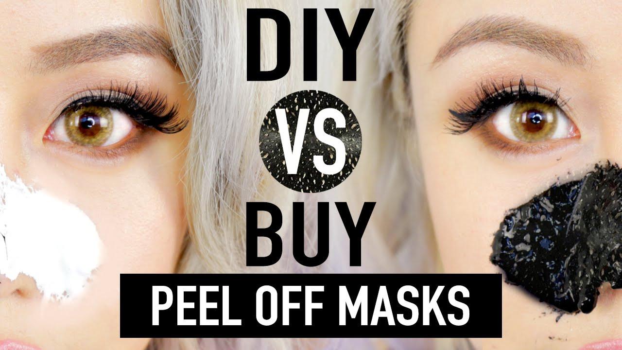 DIY Peel Mask  DIY Peel f Mask To Remove Blackheads DIY vs BUY