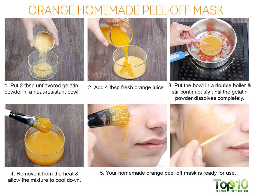 DIY Peel Off Face Mask Without Gelatin  41 DIY Peel off Face Masks for Acne Blackheads and
