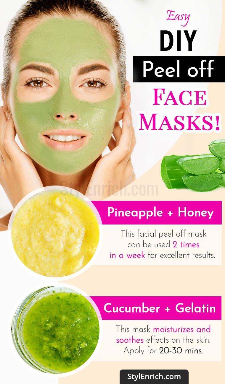 DIY Peel Off Face Mask Without Gelatin  Diy Peel f Face Mask Without Gelatin Do It Your Self DIY
