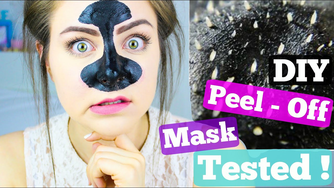 DIY Peel Off Face Mask Without Gelatin  DIY Blackhead Remover Peel f Mask Tested