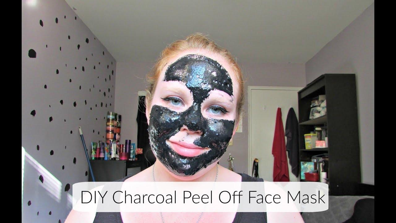 DIY Peel Off Face Mask Without Gelatin  DIY Charcoal & Gelatin Peel f Face Mask
