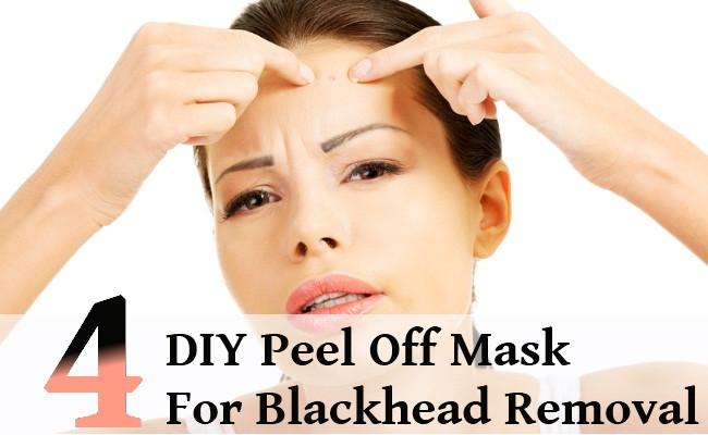 DIY Peel Off Face Masks  4 DIY Peel f Mask For Blackhead Removal