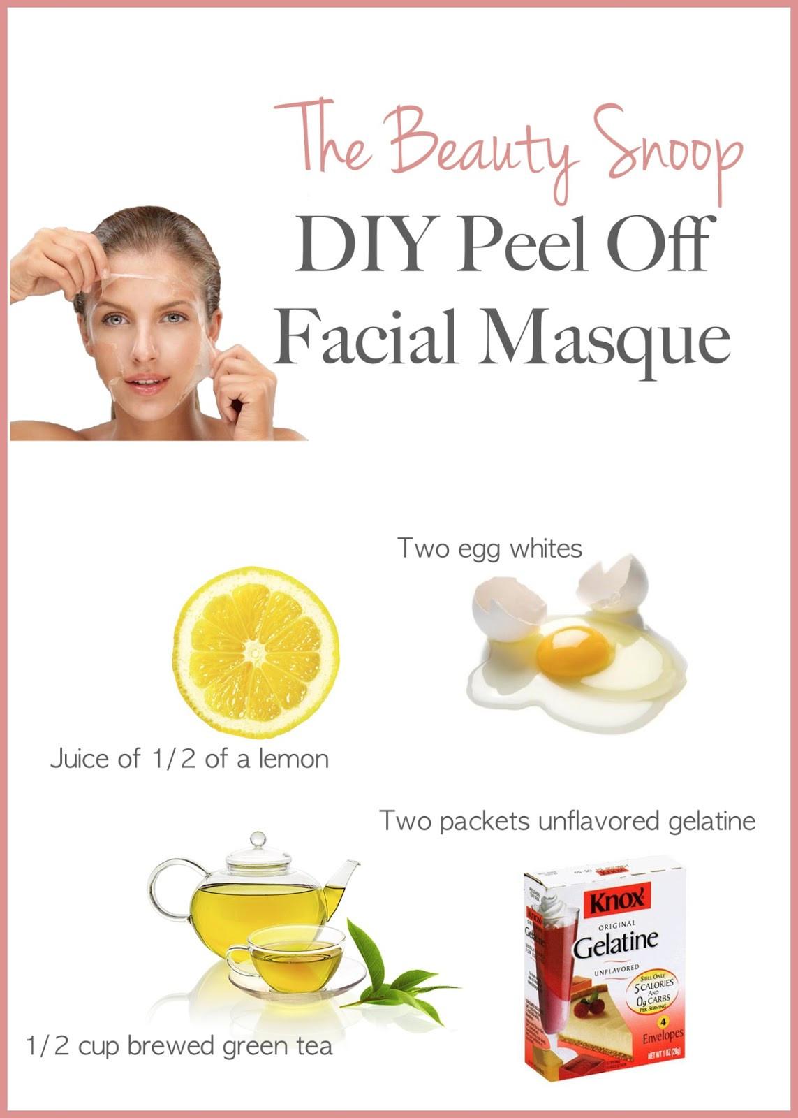 DIY Peel Off Face Masks  domowy peeling