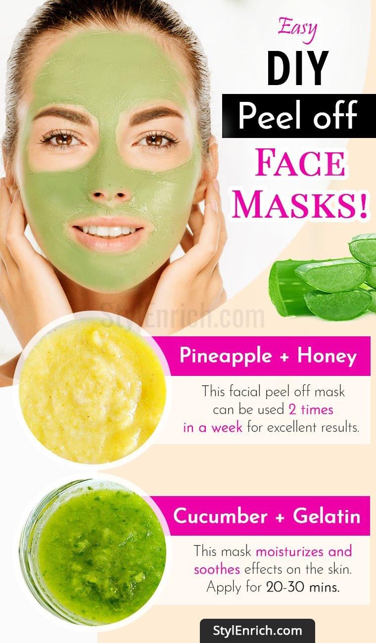 DIY Peel Off Face Masks  DIY Peel f Face Mask For Beautiful And Glowing Skin