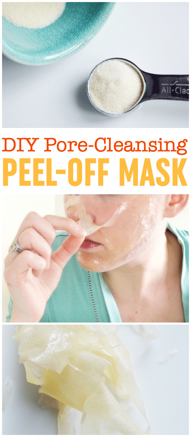 DIY Peel Off Face Masks  DIY Peel f Mask Pore Cleansing Blackhead Busting Face