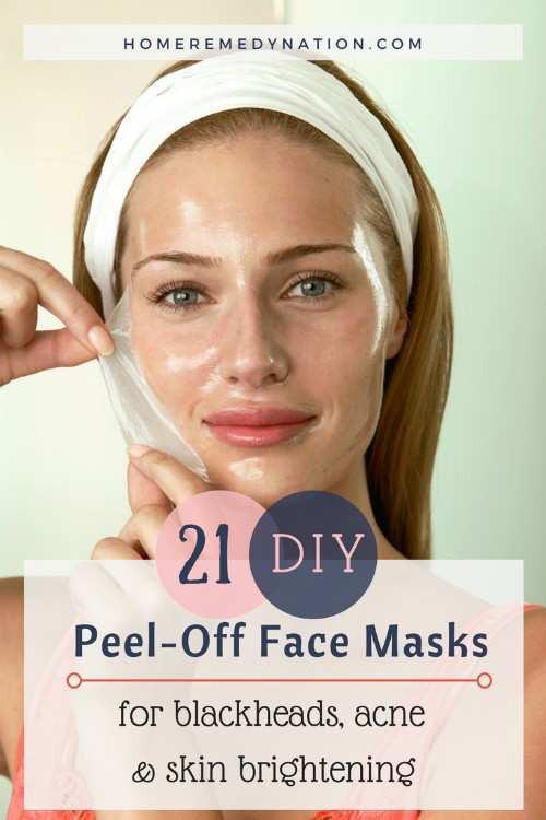 DIY Peel Off Face Masks  21 DIY Peel f Face Masks For Blackheads Acne and Skin
