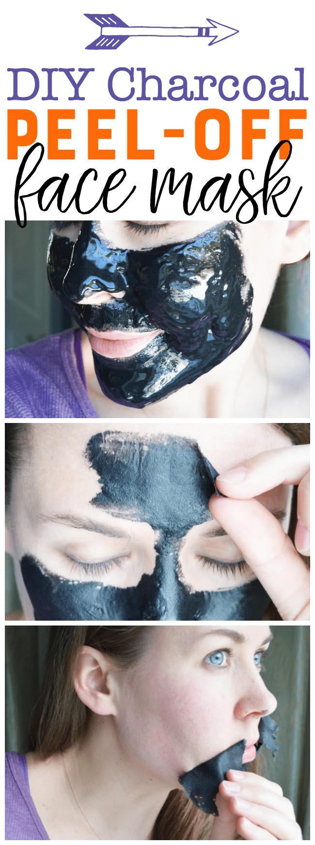 DIY Peel Off Face Masks  DIY Charcoal Peel f Mask Easy Blackhead Busting Mask