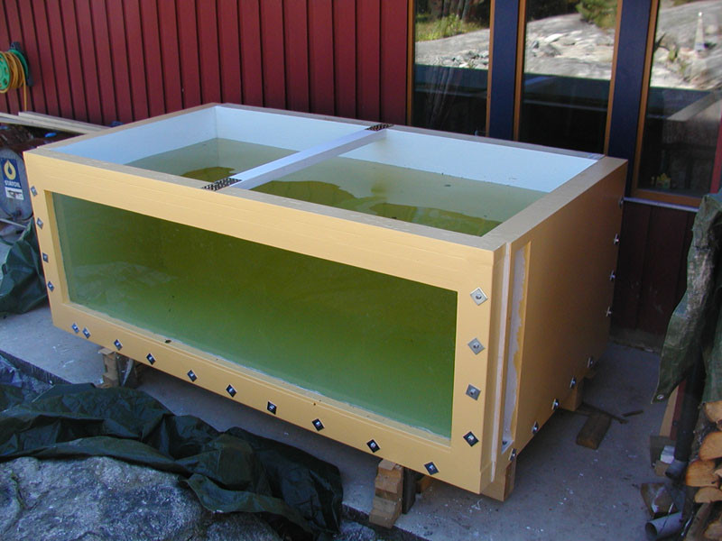DIY Plywood Aquarium  DIY plywood aquarium 581 Gallons