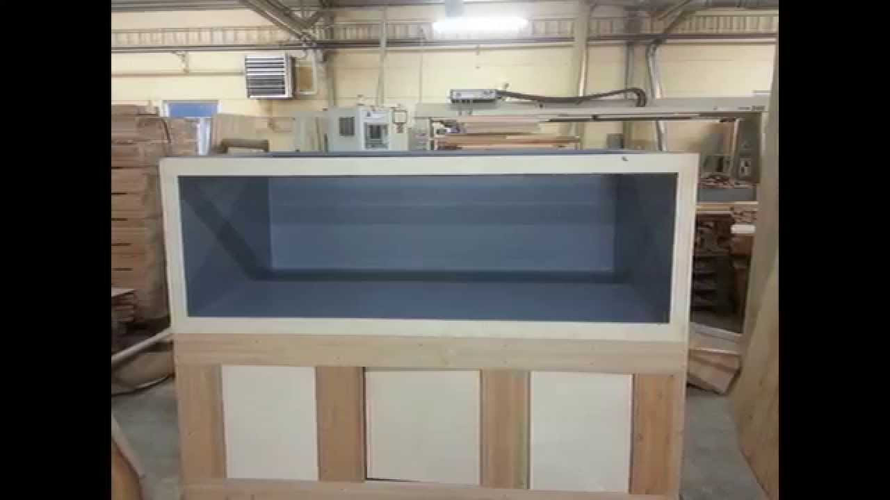 DIY Plywood Aquarium  400 gallon Plywood fiberglass aquarium