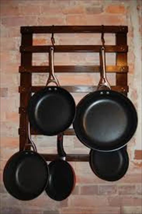 DIY Pots And Pans Rack  DIY Pallet Pan Holder