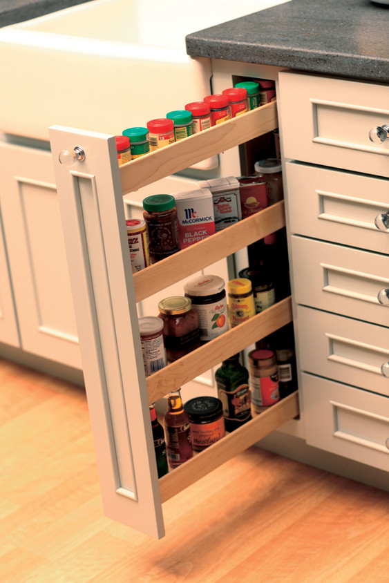DIY Pull Out Spice Rack  Pull Out Kitchen Storage Cabinets