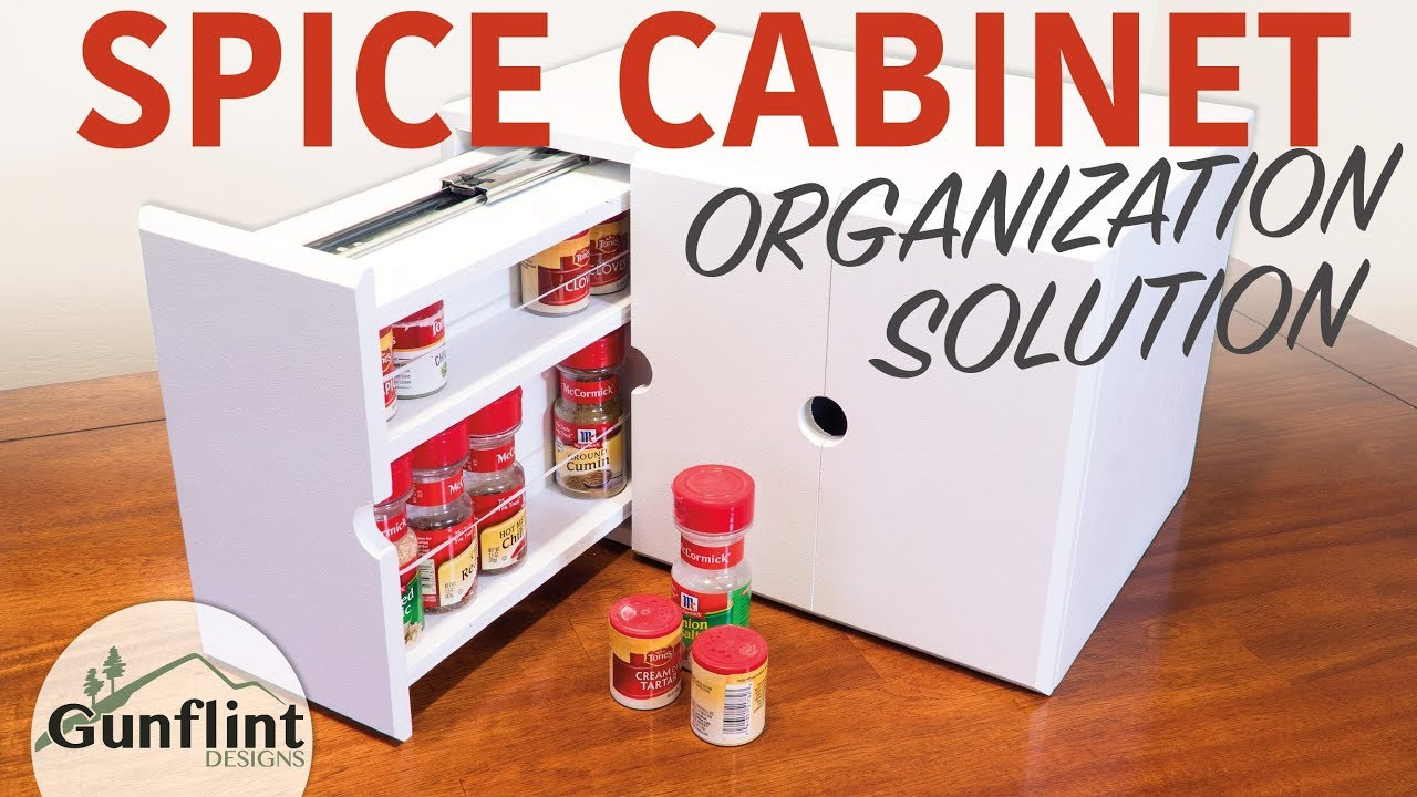 DIY Pull Out Spice Rack  DIY Spice Organizer Rack with Pull Out Drawers