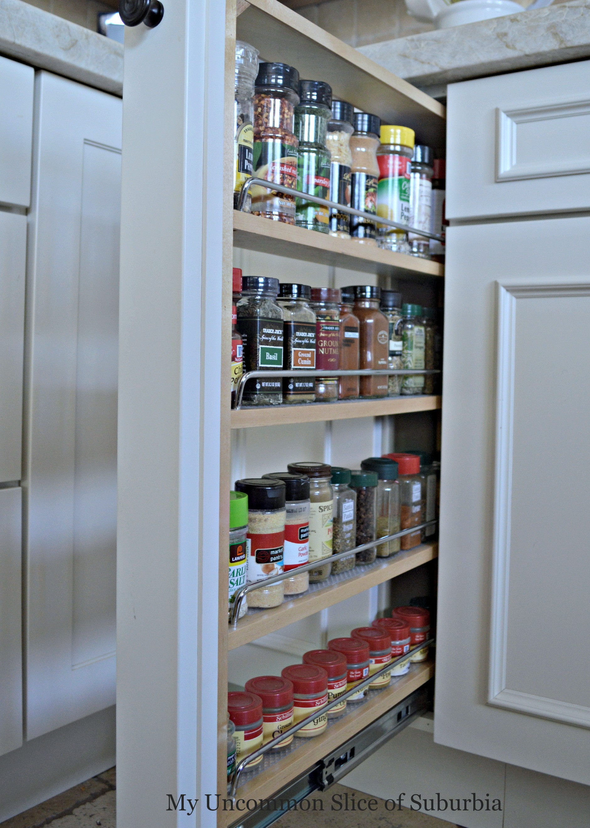 DIY Pull Out Spice Rack  Tips For Designing An Organized Kitchen