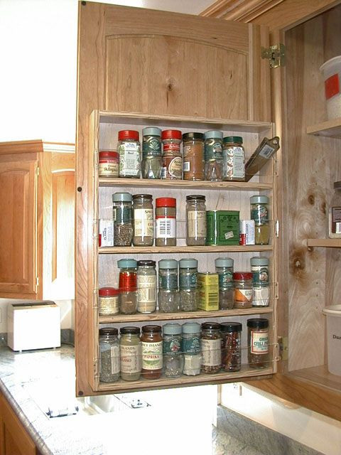 DIY Pull Out Spice Rack  You can build this yourself diy plans spice rack in upper