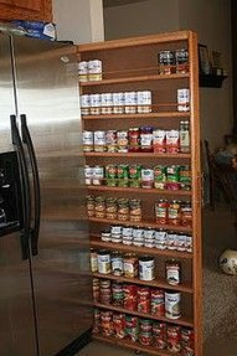 DIY Pull Out Spice Rack  29 Insanely Clever Kitchen Ideas