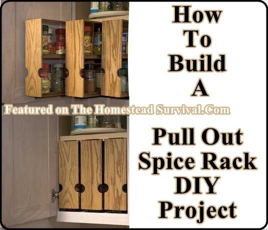 DIY Pull Out Spice Rack  Build Your Own Pull Out Spice Racks The Homestead