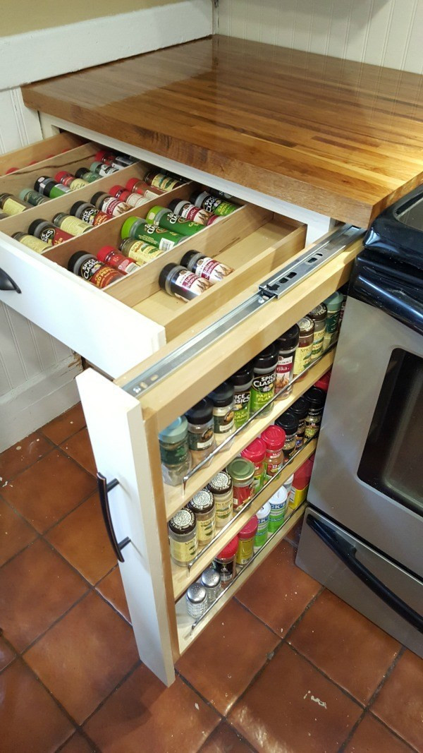 DIY Pull Out Spice Rack  DIY Spice Drawer
