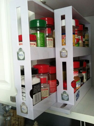 DIY Pull Out Spice Rack  The pull out spice rack from Bed Bath & Beyond with DIY
