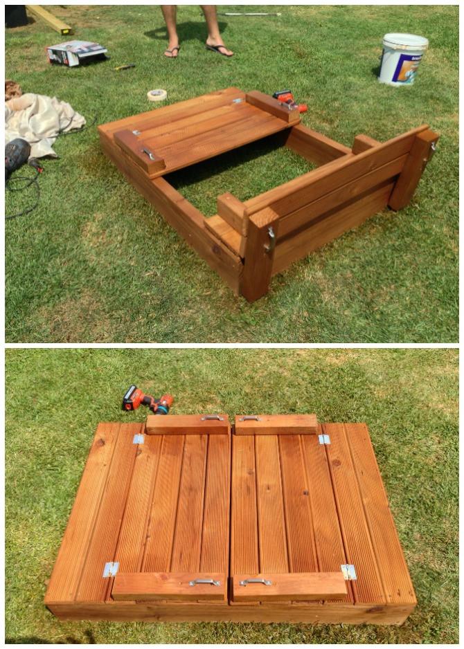 DIY Sandbox Cover  DIY Sandbox Projects Picture Instructions