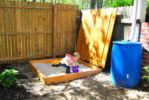 DIY Sandbox Cover  How to Build a Sandbox 17 DIY Plans
